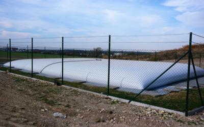 Vak na pitnú vodu pre obec Chýně s objemovou kapacitou 250 m³